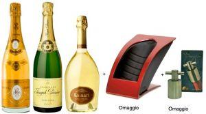 3 Bt. Champagne + Stabilizzatore + Tappo Inox salvabollicine