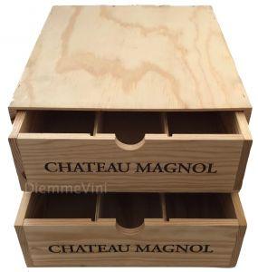 Cassa Legno Vuota con cassetti Usata Originale Chateau Magnol