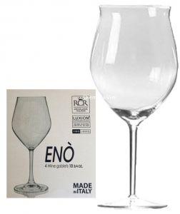 4 Calici Enò Bicchiere Unico Adatto a Tutte le Tipologie di Vino