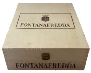 Cassa Legno 3 bt. Vuota Nuova Originale Fontanafredda