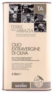 Latta 3 Lt. Olio Extra Vergine di Oliva Terre dell'Abbazia Ursini