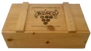Cassa Legno 2 Bt. Vuota Originale Bosco Nestore