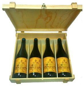 Cassetta Legno  Verticale 4 Bottiglie Valentini