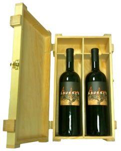 Cassetta Legno 2 Bottiglie Anfora Gravner