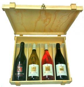 Cassetta Legno 4 Bottiglie Vini d'Abruzzo Pasetti