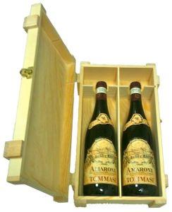 Cassetta Legno 2 Bottiglie Amarone 2015 Tommasi