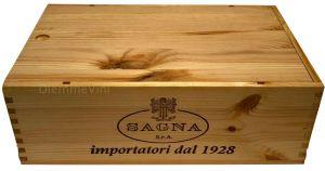 Cassa Legno per 2 bt. Vuota Originale Sagna