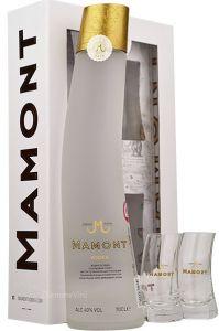 Confezione Vodka Distillata 6 Volte e 2 Bicchieri Degustazione Mamont