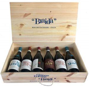 Confezione Legno 6 Bottiglie Braida Giacomo Bologna
