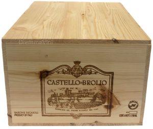 Cassa Legno Vuota Usata Castello Broglio Barone Ricasoli