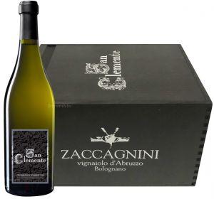Cassa Legno 6 Bottiglie San Clemente Bianco Abruzzo Doc 2016 Zaccagnini
