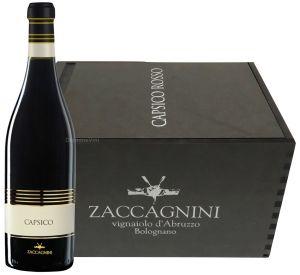 Cassa Legno 6 Bottiglie Capsico Colline Pescaresi Cabernet Igt 2014 Zaccagnini