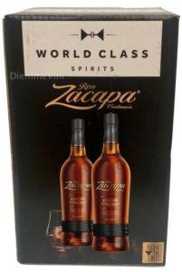 Confezione 2 Bottiglie Rum + 4 Bicchieri Zacapa