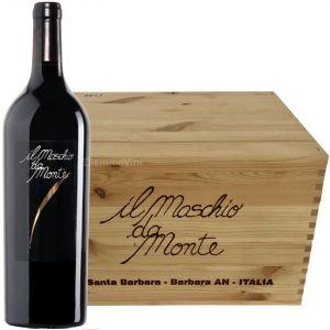 Cassa Legno 6 Bottiglie il Maschio da Monte Rosso Piceno Doc 2017 Santa Barbara