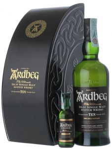 Confezione Latta 2 bt. Whisky Single Malt 10 Years Old Ardbeg