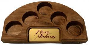 Espositore in Massello Vuoto per 5 Bottiglie Rum Malecon