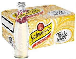 Confezione 24 Bottiglie Vetro cl.18 Schweppes Ginger Beer