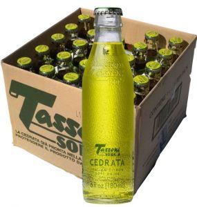 Confezione 25 Bottiglie Vetro cl.18 Cedrata Tassoni