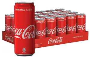 Confezione 24 Lattine cl. 33 Sleek Coca Cola