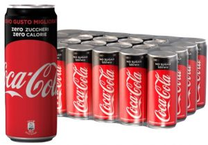 Confezione 24 Lattine cl. 33 Sleek Coca Cola Zero