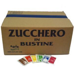 Zucchero Semolato Bianco Bustine gr. 4,5 Confezione kg. 10 Adria