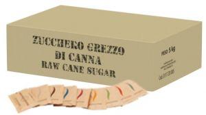 Zucchero di Canna Grezza Bustina gr. 5 Confezione Kg. 5 Adria