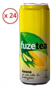 Confezione 24 Lattine cl. 33 Sleek Fuzetea Limone