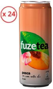 Confezione 24 Lattine cl. 33 Sleek Fuzetea Pesca