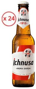 Confezione 24 Bottiglie Vetro cl. 33 Birra Lager Ichnusa