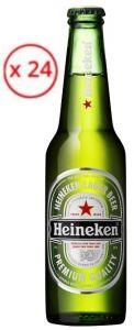 Confezione 24 Bottiglie Vetro cl. 33 Birra Lager Heineken
