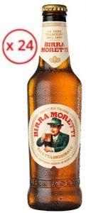 Confezione 24 Bottiglie Vetro cl. 33 Birra Lager Moretti