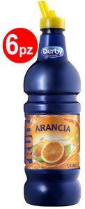 Confezione 6 Bottiglie lt. 1,5 Succo di Frutta Arancia Derby Blue
