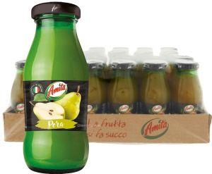 Confezione 24 Bottiglie Vetro cl. 20 Succo Pera Amita