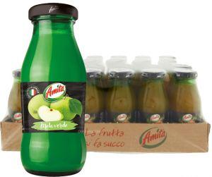 Confezione 24 Bottiglie Vetro cl. 20 Succo Mela Verde Amita