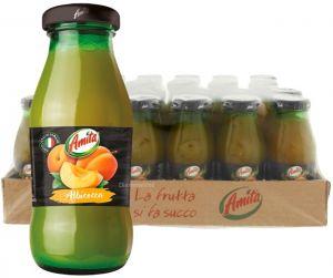 Confezione 24 Bottiglie Vetro cl. 20 Succo Albicocca Amita