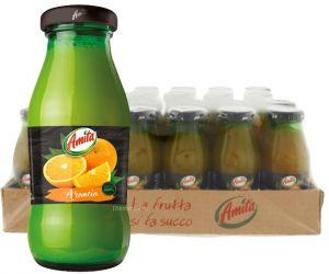 Confezione 24 Bottiglie Vetro cl. 20 Succo Arancia Amita