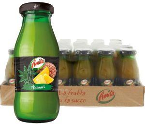 Confezione 24 Bottiglie Vetro cl. 20 Succo Ananas Amita
