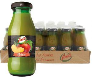 Confezione 24 Bottiglie Vetro cl. 20 Succo Pesca Amita