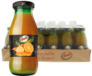 Confezione 24 Bottiglie Vetro cl. 20 Succo Ace Amita