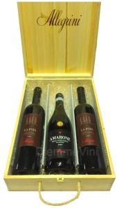 Cassetta Legno Tris 3 Bottiglie Allegrini
