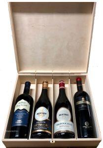 Cassetta Legno 4 Bottiglie Bertani