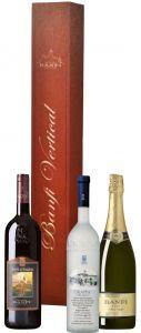 Confezione Vertical Porta cd con 3 Bottiglie Castello Banfi
