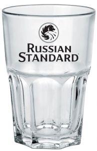 6 Bicchieri Vetro Temperato Tumbler Russian Standard