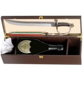 Cassetta Legno Dom Perignon 2010 Con Sciabola Sommelier