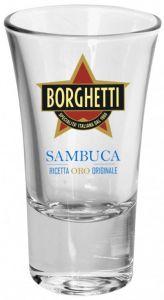 6 Bicchieri Senior Sambuca oro Borghetti