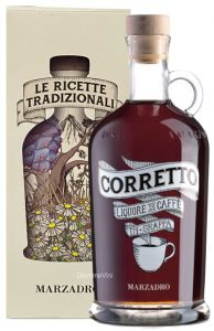 Corretto Liquore al Caffè con Grappa 18 lune Marzadro