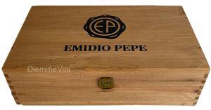 Cassa Legno Massello Vuota 2 bottiglie Originale Emidio Pepe