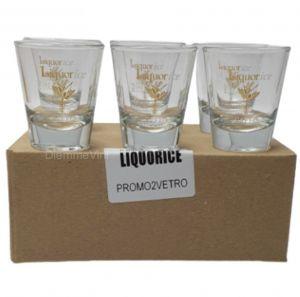 6 Bicchiere Liquirizia Liquorice Caffo
