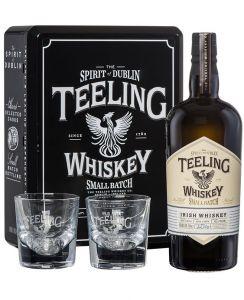 Confezione Metallo Whisky Small Batch con 2 bicchieri Teeling