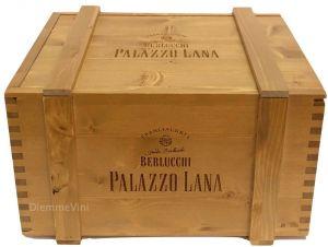 Cassa Legno Massello Vuota Originale Berlcucchi Palazzo Lana